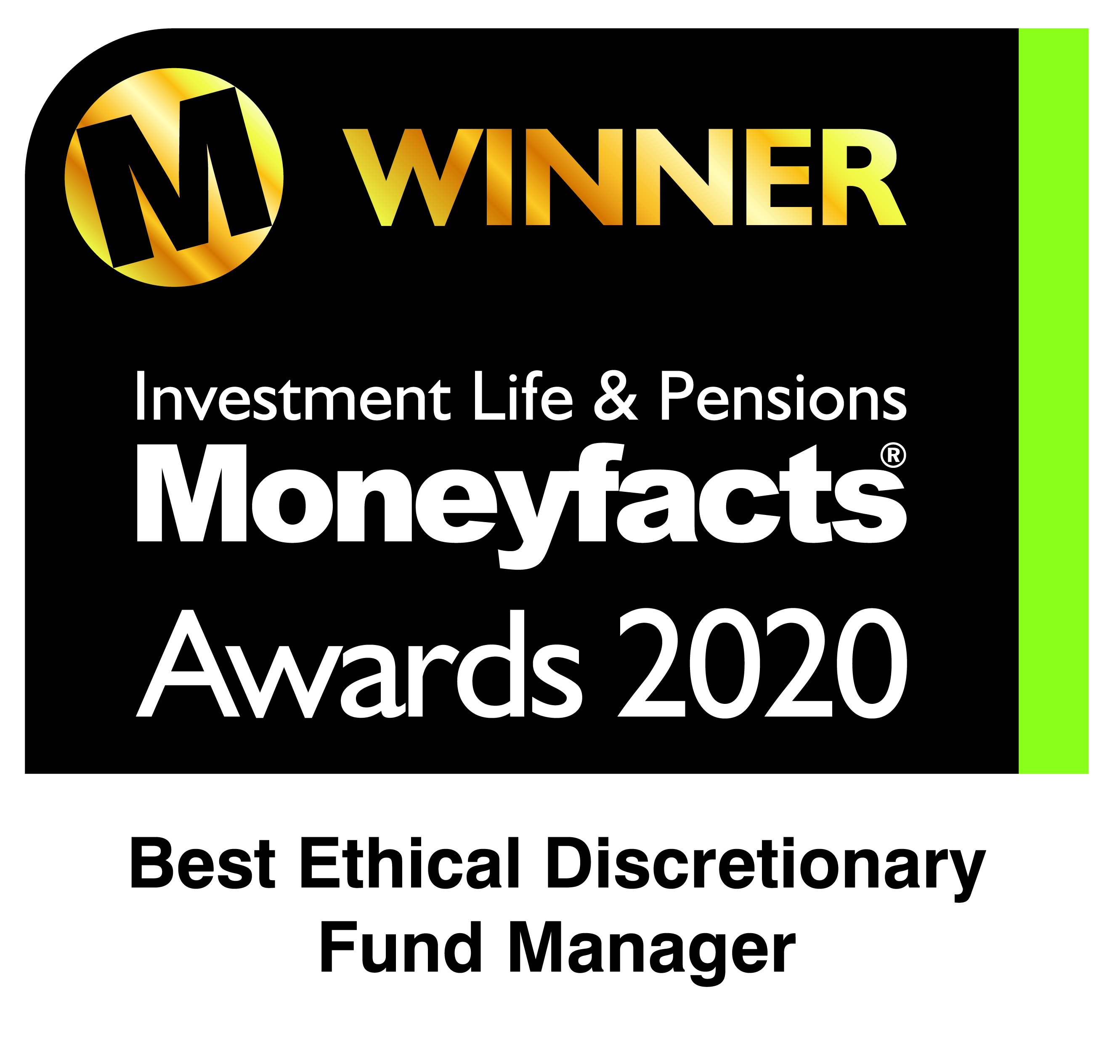 Moneyfacts Awards - Best Ethical DFM